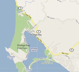 Map to Bodega Bay Fish Festival